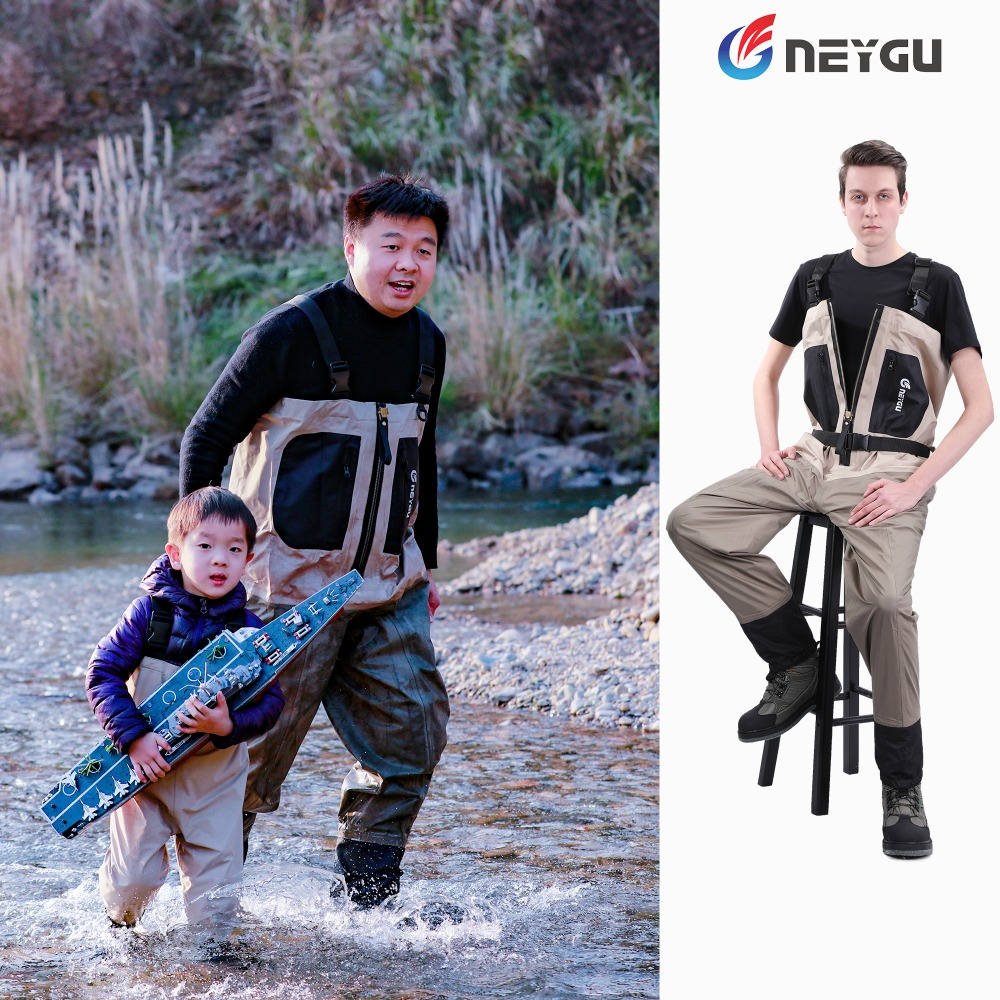 Men's Breathable Hunting Waders For Fly Fishing, Waterproof Rafting Wader With Neoprene Socks, Fishing Wader For Cold Water Play(China)