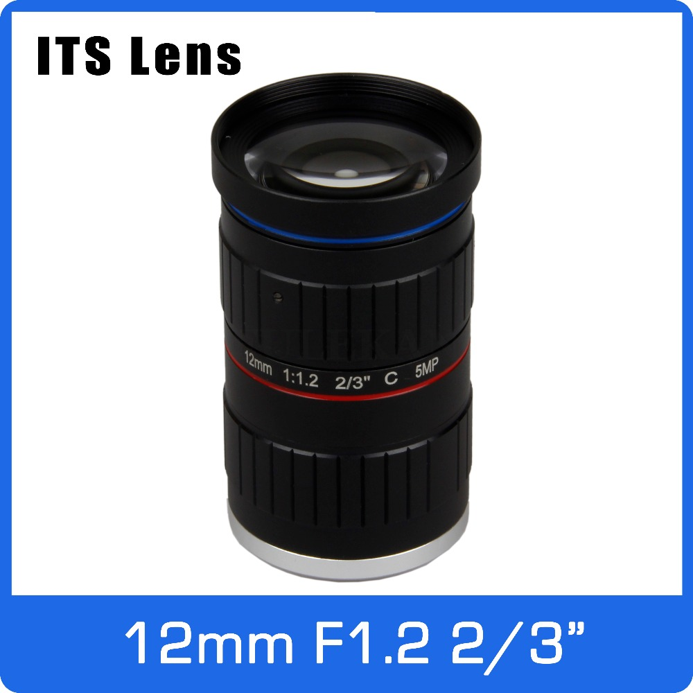 2/3 inch 5MP ITS Lens 12mm  Ultra Starlight F1.2 C Mount For Electronic Police or Traffic Camera2/3 inch 5MP ITS Lens 12mm  Ultra Starlight F1.2 C Mount For Electronic Police or Traffic Camera
