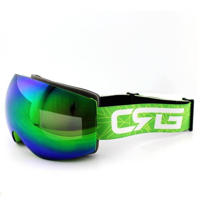 75cc5c3117b Online Shop Blue Green Lens Green Frame Brand Ski Goggles Double UV400  Anti-Fog Big Ski Mask Glasses Skiing Men Women Snow Snowboard Goggles
