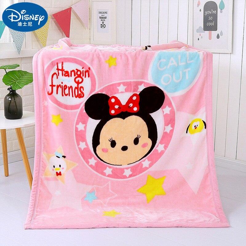Couverture en molleton de corail 100x140 CM couverture Mickey Minnie pour enfants sur lit canapé canapé enfants fille couverture en laine pour femmes