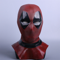 Deadpool 2 Mask Marvel X Men Deadpool Wade Cosplay Mask Cosplay Costume Accessories Headwear Adults Halloween Party Red Props