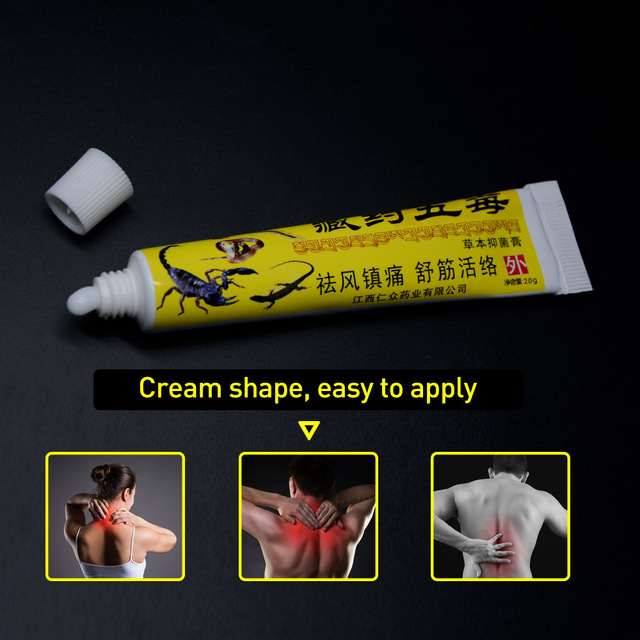 1Pcs Pain Relief Ointment 100% Original Herbal Cream For Rheumatoid Arthritis Joint Muscle Rub Medical Plaster Health Care P1001