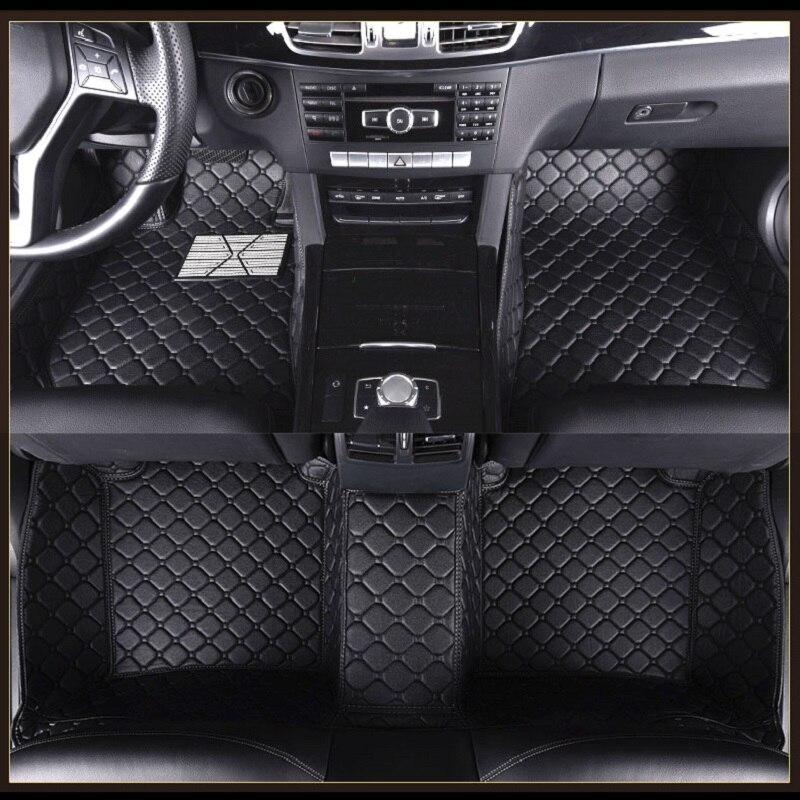 Car Floor Mat For RHD/LHD Mercedes Benz E class W110 W114 W115 W123 W124 W210 W211 W212 AMG E43 E53 E63 Coupe Car Styling Carpet