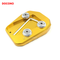 DOCONO Motorcycle Parts Kickstand Foot Side Stand Enlarge Extension Pad Support Plate FOR Yamaha MT09 MT