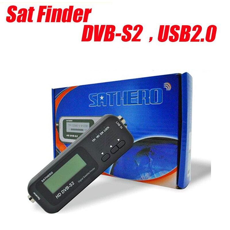 Sathero SH 100HD Digital Pocket Satellite Finder Satellite Receiver DVB S/S2 HD Signal Meter USB 2.0 Sat Finder-in Satellite TV Receiver from Consumer Electronics    1