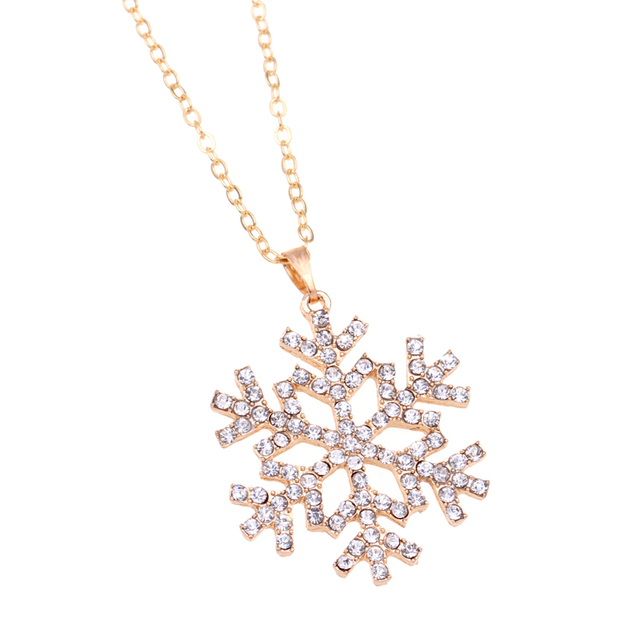 Cheap fashion jewelry CZ Crystal charm necklaces snowflake necklace for christmas flower pendants necklace bijoux colliers 2015 4