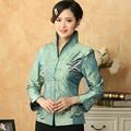Free Shipping Blue Women's Silk Satin Jacket Vintage Embroidery Tang Suit Butterfly Pattern Coat Size S M L XL XXL XXXL T035