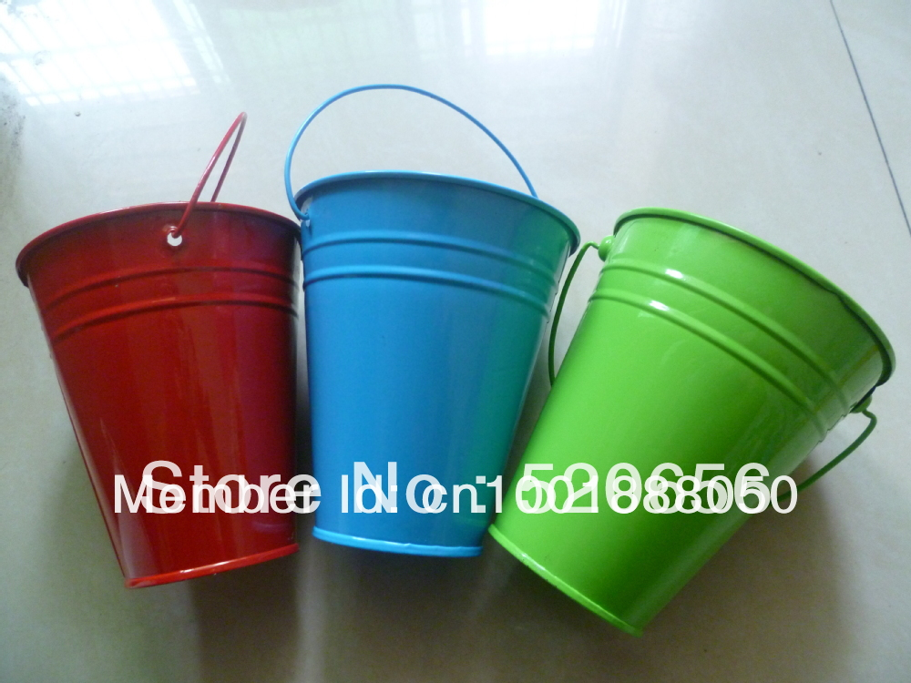 Free Shippinghot Sale Mini Candy Buckets Mini Metal Pots Mini Metal