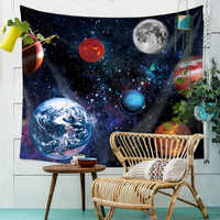 Galaxy Hanging Wall Tapestry Universe Hippie Retro Home Decor Yoga Beach Towel Planet Series Painting Cloth Fabric Wholesale