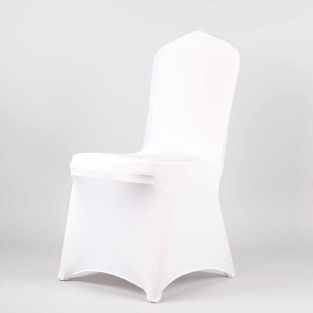 Germany Send 100 Pcs White Spandex Party Wedding Chair Covers For Weddings Universal Stretch Polyeste