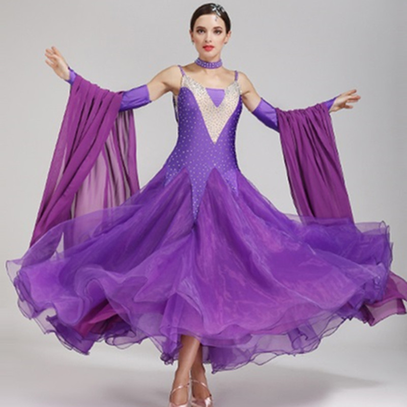 Vestido de baile vals danza moderna danza de salón de baile estándar ...