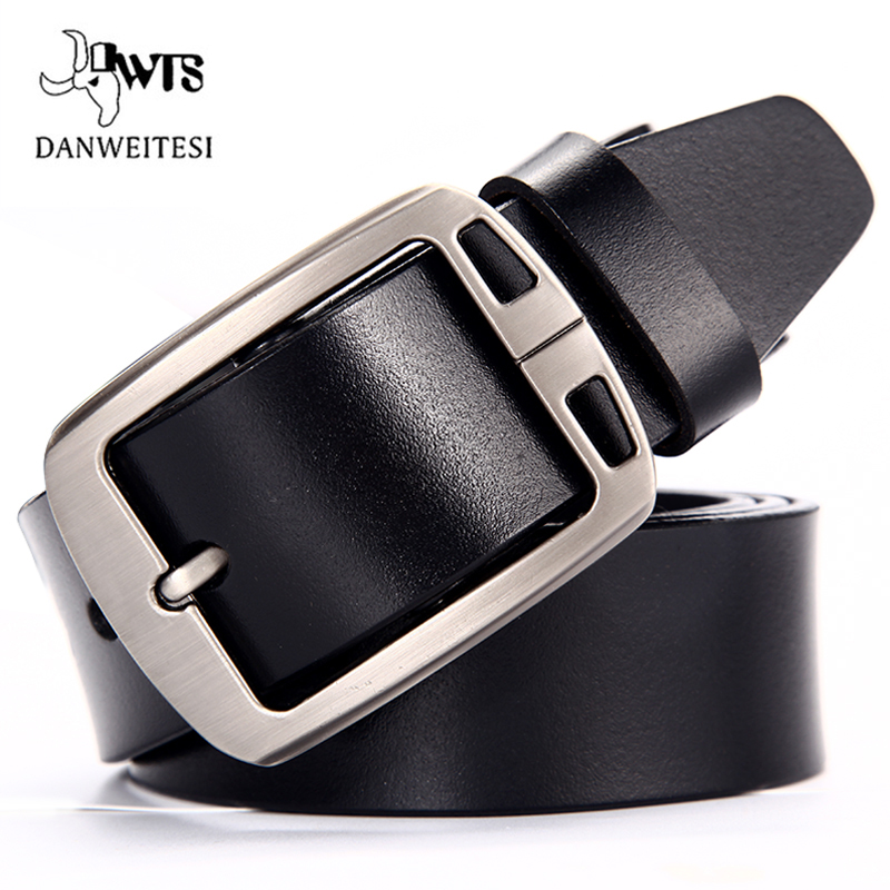 [DWTS]Cow leather belt men male genuine leather strap belts for men buckle fancy vintage jeans cintos masculinos ceinture homme