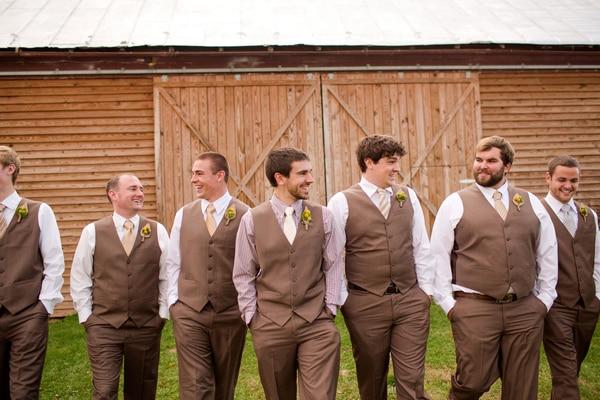 Men's Wedding Groom Wear Vest Brown Mens Tuxedo Vests Camo New Custom Made Size And Color Men Waistcoat
