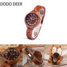 DODO DEER Female High Quality Wrist Watch Bamboo Wooden Watches