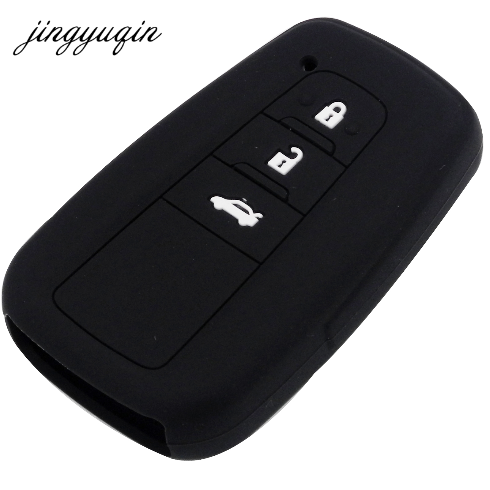 jingyuqin Skin Silicone Key fob Case for Toyota Camry 2017 2018 CHR Prius Corolla RAV4 Remote 3 Button Keyless Cover Protect литой диск replikey rk l18b toyota rav4 camry 7x17 5x114 3 d60 1 et45 s