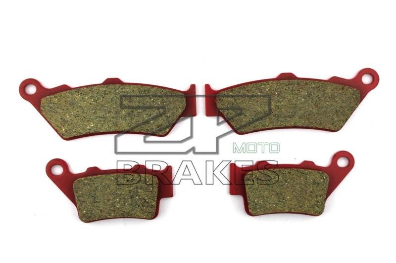 Ceramic Brake Pads Front & Rear For HONDA NX 500 V/W/X Dominator 1997-1999 OEM New High Quality ZPMOTO motorcycle front and rear brake pads for honda nx 500 nx500 nx650 j k l m dominator 1988 1991 black brake disc pad