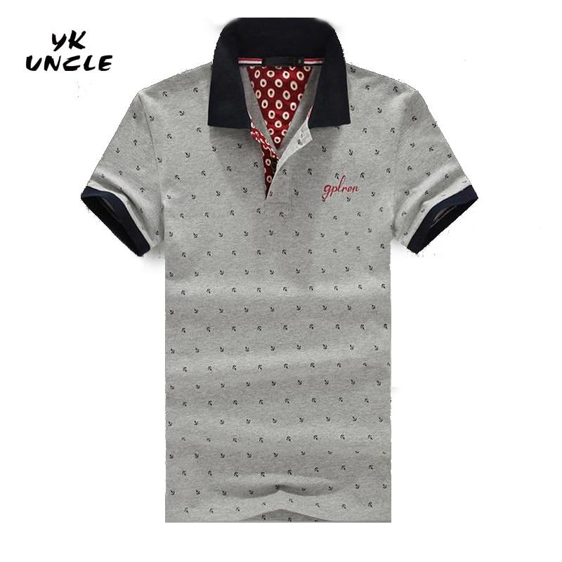 M-6XL Good Quality 2016 Summer Casual Slim Fit Men Short Sleeve Polo Polka Dot Men's Polos Fashion Brand Man Clothing,YK UNCLE