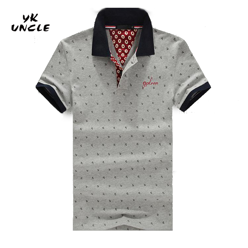 M-6XL Good Quality 2016 Summer Casual Slim Fit Men Short Sleeve   Polo   Polka Dot Men's   Polos   Fashion Brand Man Clothing,YK UNCLE