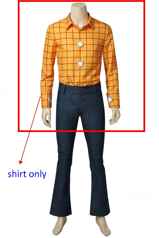 Toy Story Woody Cosplay Costume outfit shirt only