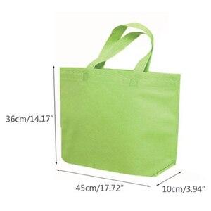 Image 5 - Женская Складная сумка для покупок из нетканого материала, многоразовая сумка тоут через плечо унисекс, сумка для хранения продуктов, сумка для покупок, сумка для хранения
