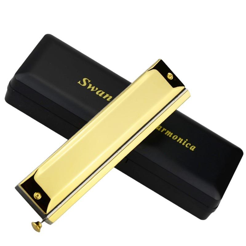 Swan 16 hoyos armónica cromática Color dorado boquilla cuadrada - Instrumentos musicales - foto 4