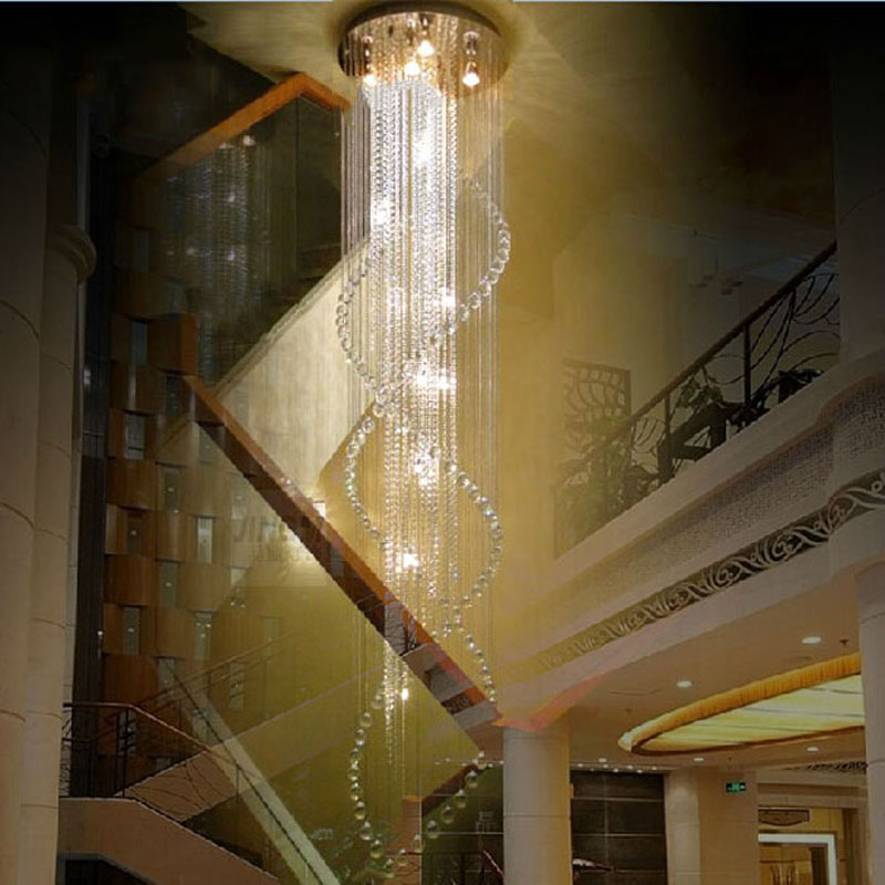 Best Price Duplex Staircase K9 Crystal Chandelier Villa