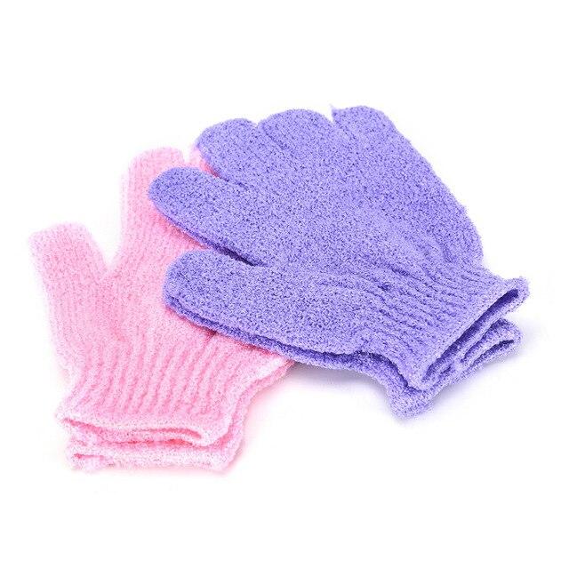 1 Pair Shower Bath Gloves Exfoliating Wash Skin Spa Massage Body Scrubber Cleaner rubbing bath gloves 1