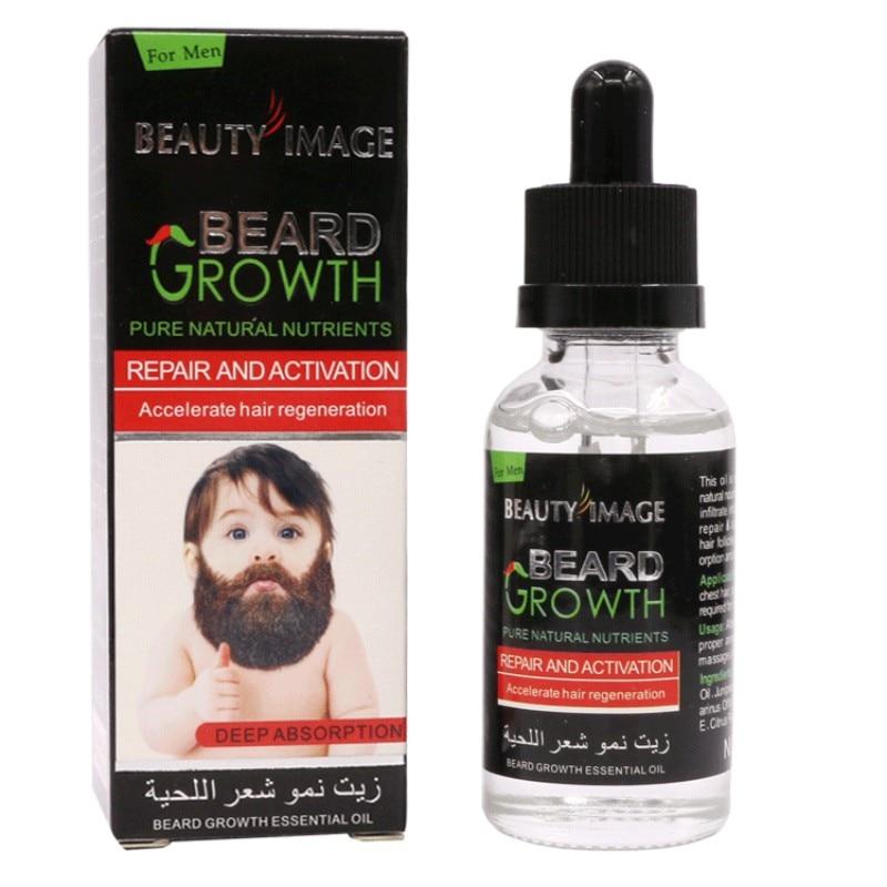 40ml Men Beard Growth Products Hair Growth Essence Liquid Thicker Enhancer Moist