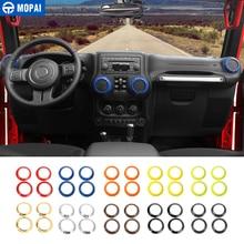 MOPAI салона выход кондиционера Vent украшения крышка отделка наклейки для Jeep Wrangler JK 2011 до автомобильные аксессуары укладки