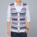 2017 New Fashion Autumn Mens Sweaters Male V-neck Cardigan Man's Stripe Knitwear Slim Fit  Brand Clothing Sweater Coats J