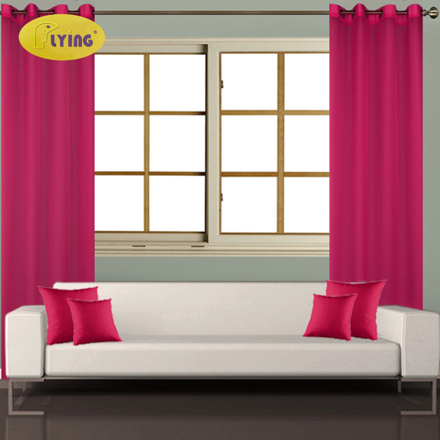 Flying Luxury Modern Curtains Living Room Bedroom Door Solid Bright Color Home Decor French Window Curtain