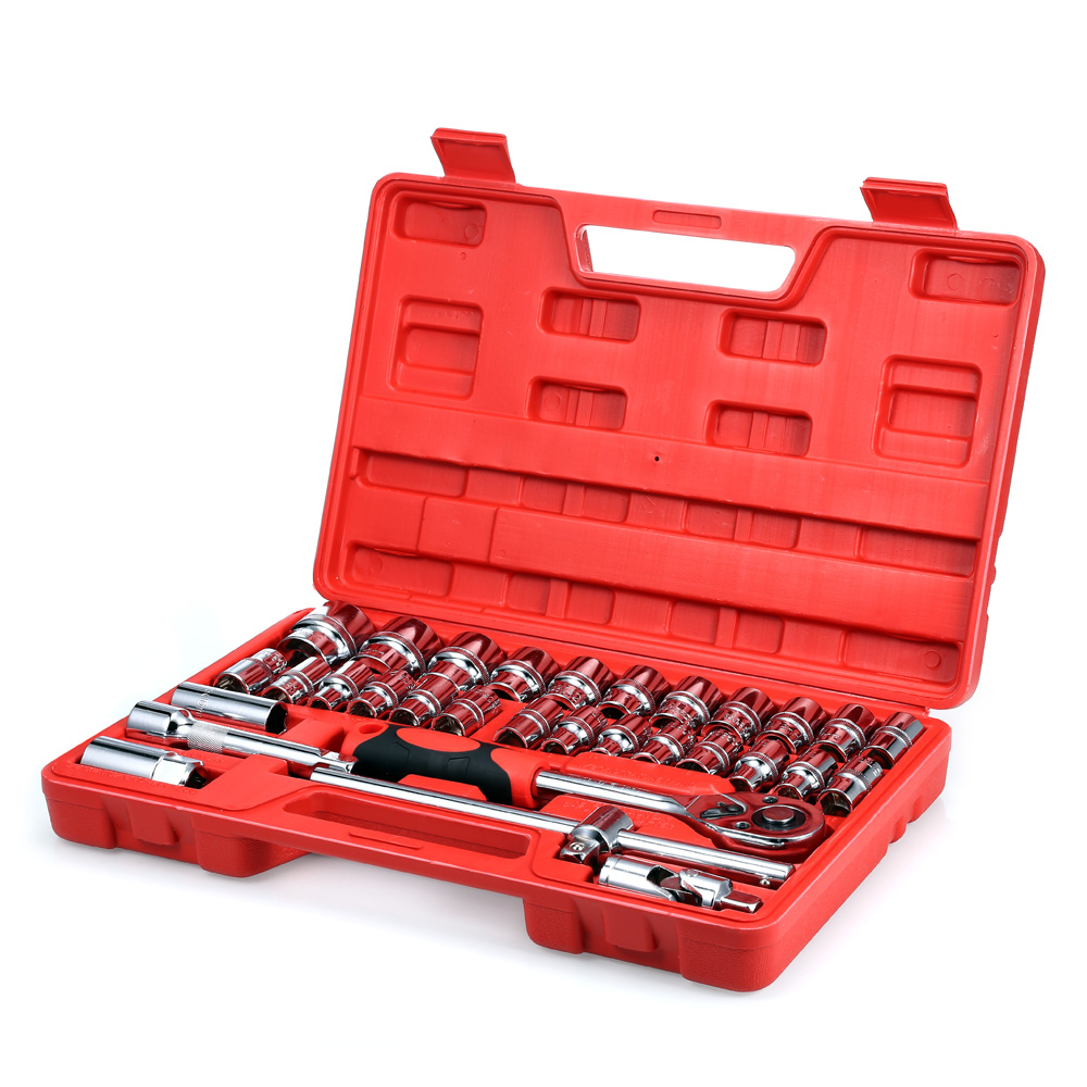 32pcs Socket Ratchet Wrench Automobile Professional Repair Tools Kit Torque Wrench Combination Bit a set of keys Chrome Vanadium veconor 7pcs set flexible head ratchet gears wrench set repair tools torque wrench combination spanner 8 17mm chrome vanadium