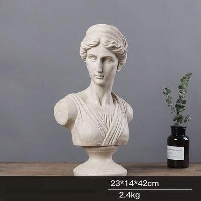 Us 89 99 30 Off 42cm Greek Mythology Apollo Venus Goddess Art Statue Roman Mythology Aphrodite Figurine Resin Crafts Home Decoration R1430 In