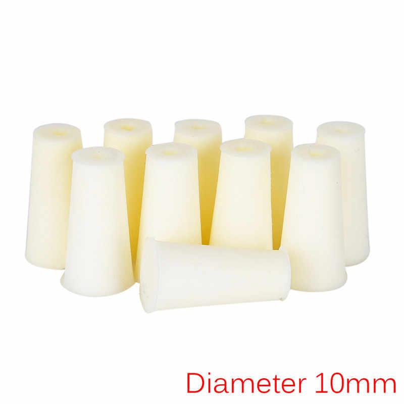 10 шт. кремния лаборатория пробкой, Тесты полые трубки Plug Slicon Вилки для эксперимента Диаметр 10-18 мм