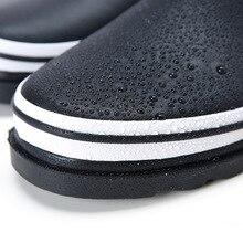 2017 korean version mens rubber rain boots fishing high quality rain shoes men fashion striped Ankle Rainboots man bota feminina