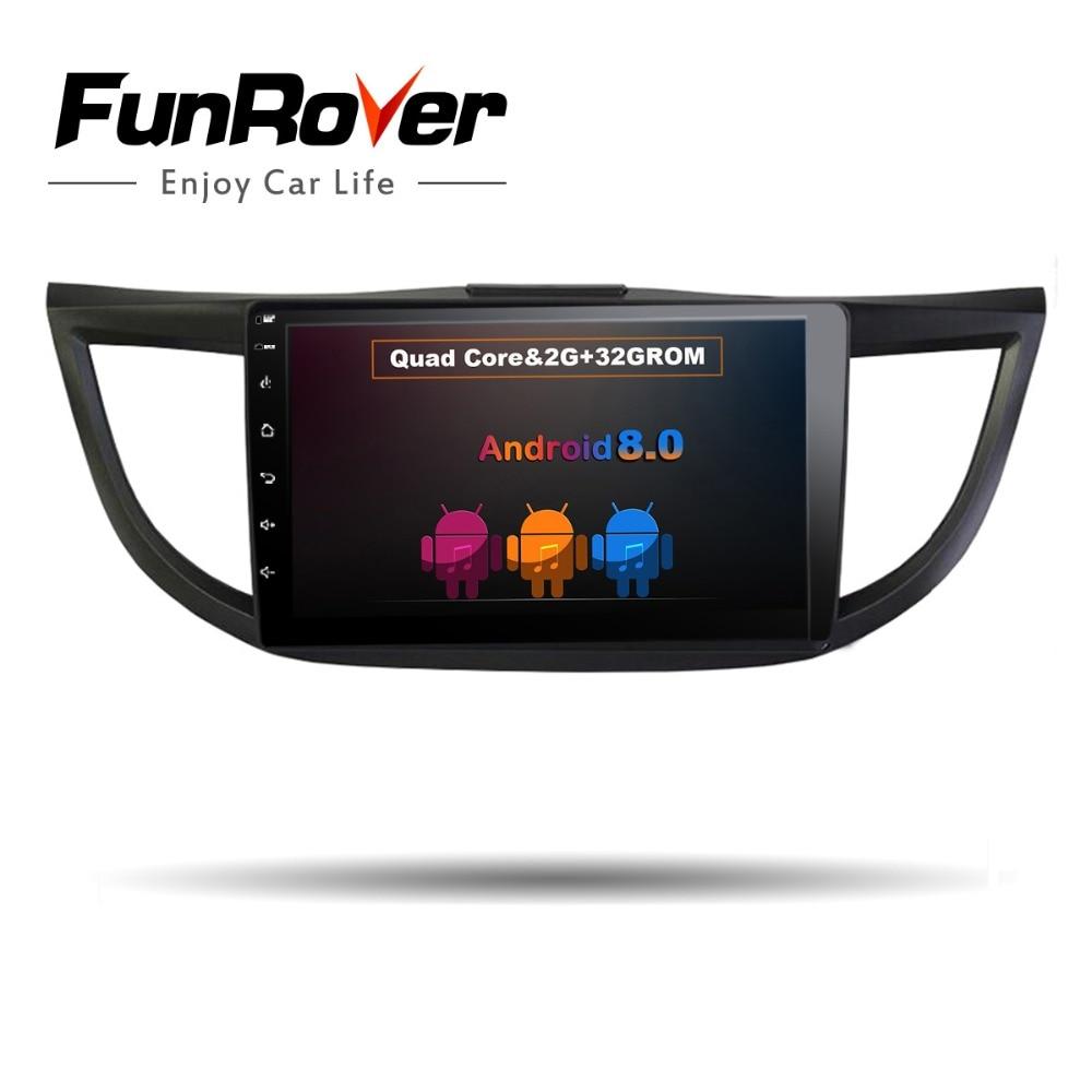 Funrover Android Car dvd gps Video player For Honda CRV CR-V 2012 2013 2014 2015 2016 10.1 inch 2 Din Car Radio Navigatio No DVD цена 2017