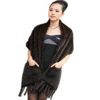 Oblong scarves knit scarves mink fur scarf mink mink Baojin