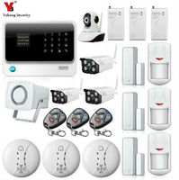 Yobang Security GSM/WIFI/GPRS Alarm Wireless Home Security Camera Alarm Systems Built in battery Sensor Detector Alarm Kits