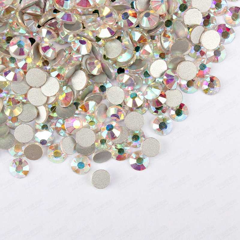 Free Shipping! 1440pcs/Lot, ss3 (1.3-1.5mm) Crystal AB /Clear AB Flatback ( Nail Art ) Non Hot Fix Glue on Glass Rhinestones