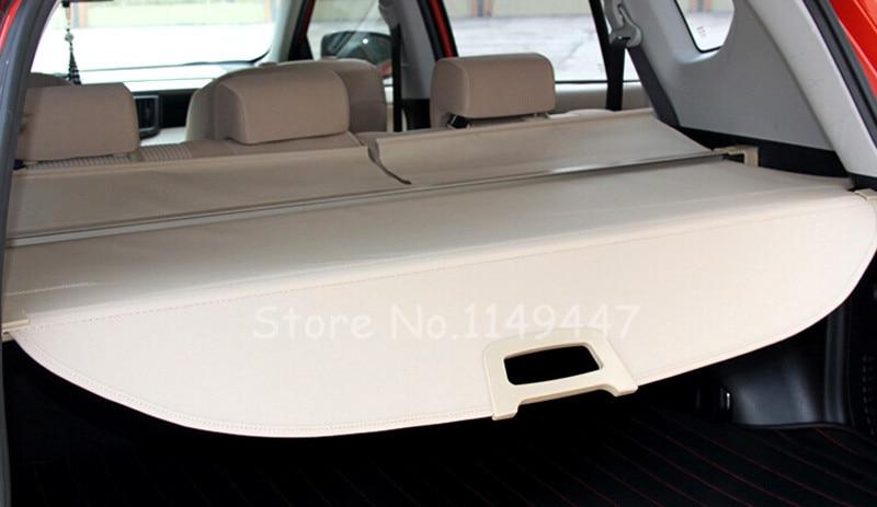 Car Rear Trunk Cargo Cover Security Shield Beige For Toyota RAV4 2013 2014 2015 2016 Car Styling 1 set black rear trunk cargo privacy cover shield parcel shelf cargo cover for mazda cx 5 2nd gen 2017 2018 car styling