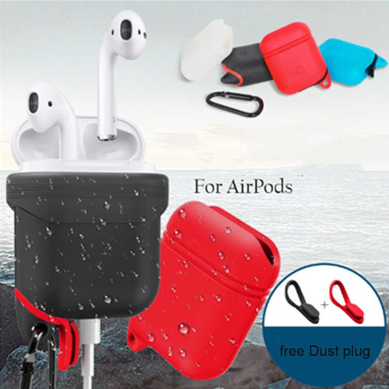 Dla Apple airpods pokrywa miękkie silikonowe Protector etui na słuchawki dla Apple AirPods skrzynki torba powietrze Protector Case i10 i12 i13 torba
