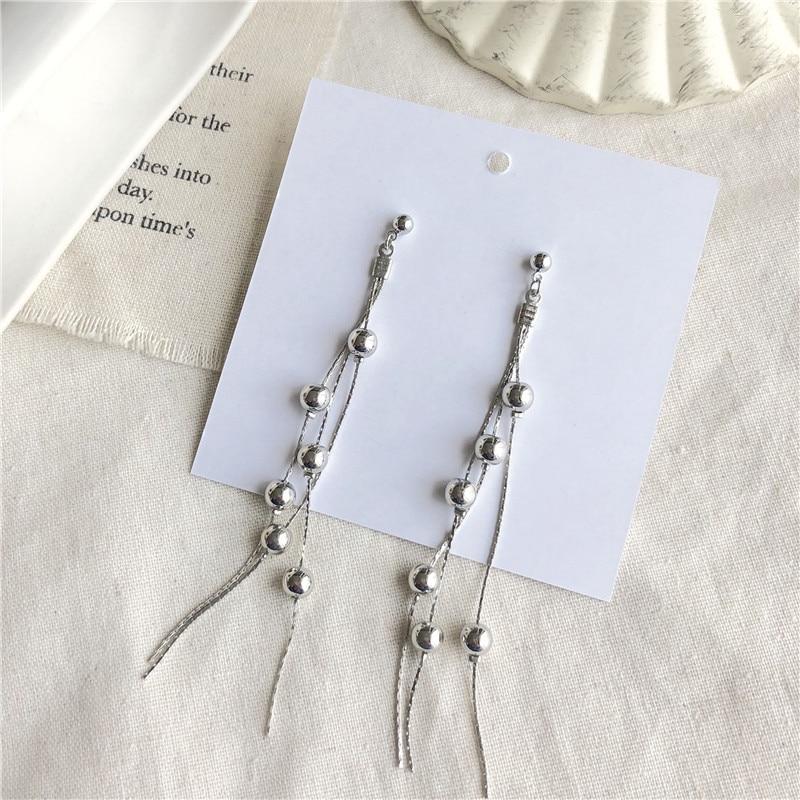 Modern Women 39 s Earrings 2019 Fashion Tassel Earring Elegant Metal Beaded Earrings For Women Jewelry Accessories boucle d 39 oreille in Drop Earrings from Jewelry amp Accessories