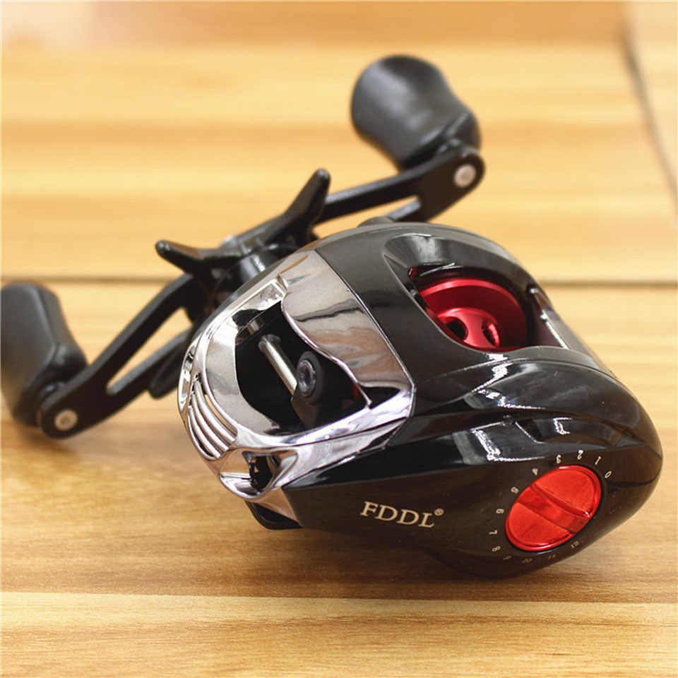 6+1 Ball Bearings Right/Left Hand Baitcasting Reel Metal Line Cup Fishing Fly High Speed Fishing Reel with Magnetic Brake System