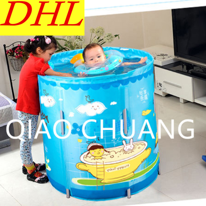 Swimming Pool Creative Baby Home Use Pool Support Bath Bucket Nylon Cartoon Printing Sma ...