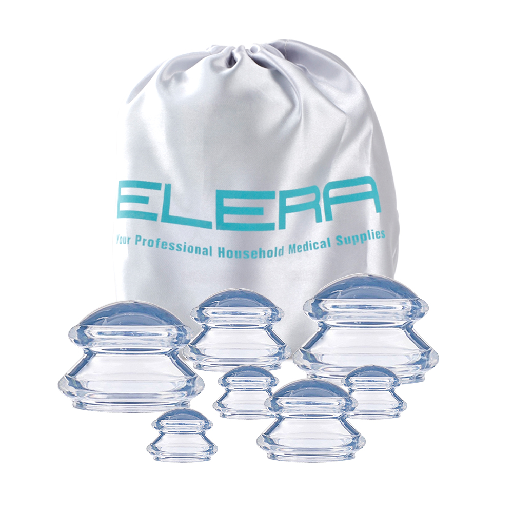 7 copos de silicone transparente premium cupping conjunto dispositivo celulite massageador terapia tradicional chinesa cuidados médicos vácuo
