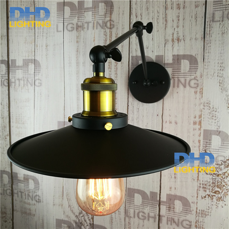 Free shipping High quality wrought balcony aisle lamp Loft Northern american vintage retro country wall lamp long adjustable arm free shipping high quality glass steam pipe head mirror lamp loft northern europe american vintage retro wall lamp e27