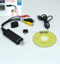 USB2.0 Video Capture Card TV Tuner VCR DVD Audio Adapter Converter Connector for Win 10 NTSC UTV007 Video Game on PC/Android