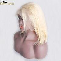 Натуральные волосы парики перуанский Синтетические волосы на кружеве парик блондинка Боб прямо предварительно сорвал с ребенком цвет воло