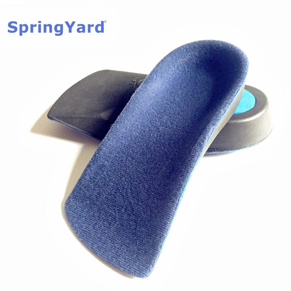 SpringYard EVA Flat Foot Arch Support Orthopedic Insoles Orthotics Half Shoe Pad Comfortable Relieve Heel Pain For Men Women