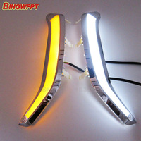 2pcs Pair Turn Off And Dimming Car Daylight LED DRL Daytime Running Lights For Forester 2013